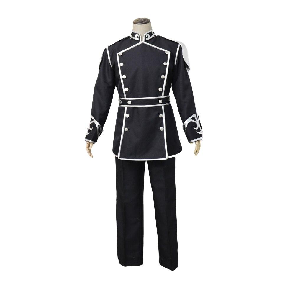 Brdwn GingaEiyudensetsu Unisex Reinhard von Lohengramm Cosplay Costume Army Uniform Suit (Top+Pants+Belt)