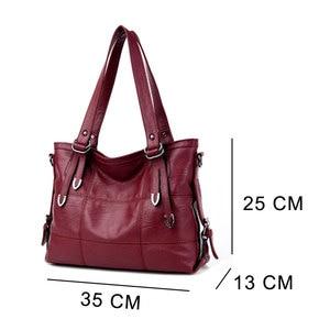 Image 3 - Women PU Leather Handbags Designer Soft Shoulder Bags For Women Messenger Bags Crossbody BagsTop Handle Bags Bolsa 3098