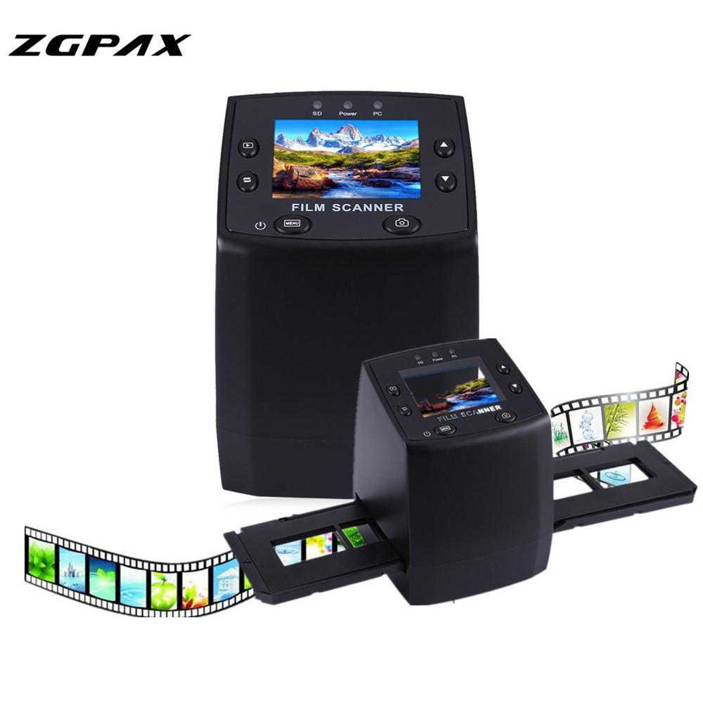 Prix pour Professionnel EC717 5MP 35mm Film Négatif Diaporama Spectateur Scanner USB numérique Couleur Photo Copieur et 24 Heures UE US Rapide gratuite