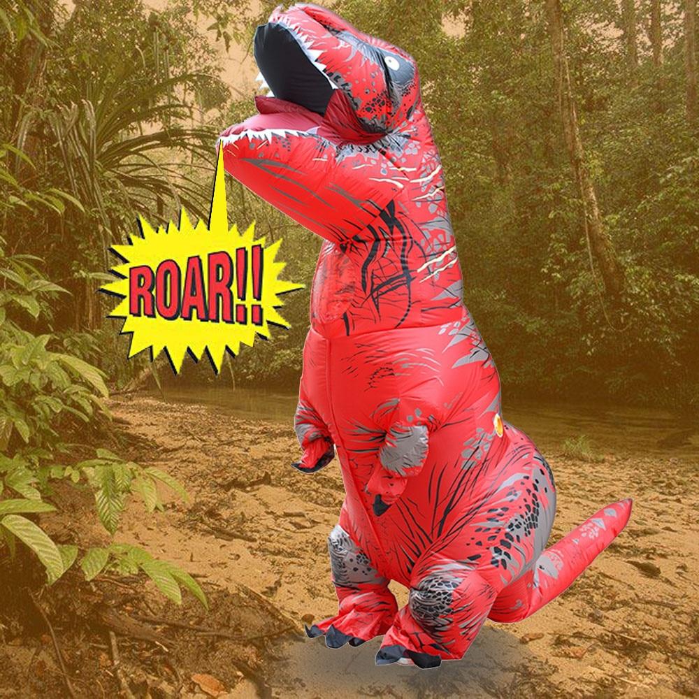 Inflable T-Rex dinosaurio  traje de fiesta juguetes al aire libre juego educativos niños 10