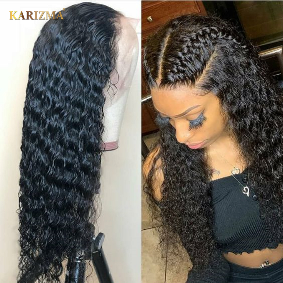 Peruvian Water Wave 13X4 Lace Front Human Hair Wig Front Lace Wigs With Baby Hair Pre