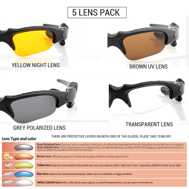 VICTGOAL Polarized Cycling Glasses Bluetooth Men Motorcycling Sunglasses MP3 Phone Bicycle Outdoor Sport Running 5 Lens Eyewear 2