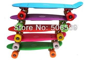 free shipping skateboard PP plastic  ABEC-9 bearing 54x15 cm