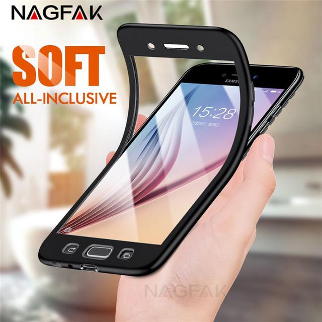 Luxury Soft TPU 360 Full Cover Case For Samsung Galaxy A3 A5 A7 J5 J7 2016 Cases For Samsung A5 A3 A7 2017 J7 J5 Shell Case Capa