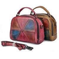 Brands 100 Genuine Leather Women Crossbody Tote Handbag Top Quality Wipe Color Female Cowhide Trend Messenger