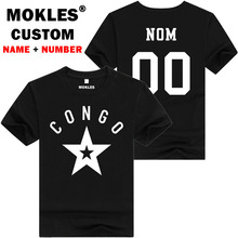 CONGO t shirt diy free custom made name number cog t-shirt nation flag french country republic print college university clothing