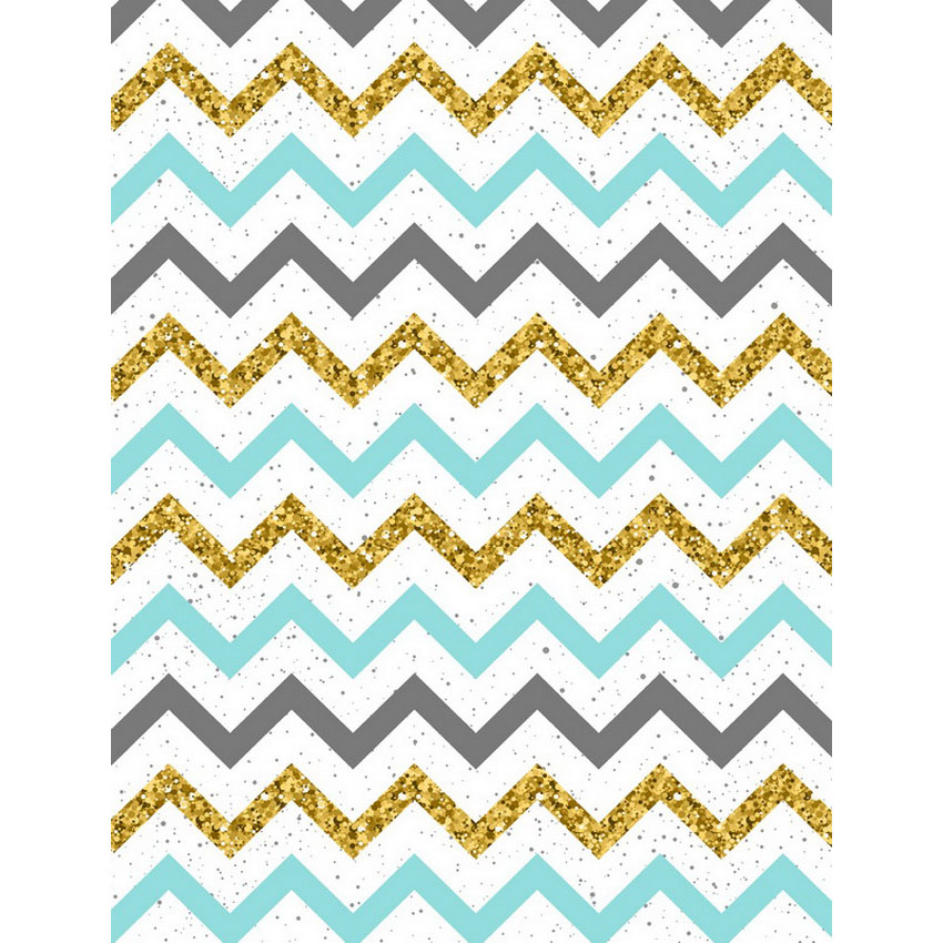Customize washable wrinkle resistant print golden chevron pattern photo studio backgrounds for photography backdrops S-2303-A missoni for target travel tote colore chevron pattern