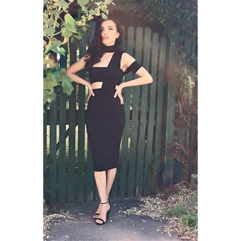 2019 новые модные женские туфли Бандажное платье с вырезом на одно плечо черные летние знаменитости вечернее, элегантное, для вечеринок платья обтягивающие, Vestidos