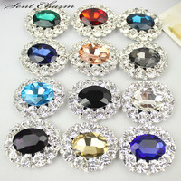 1Piar Color Rhinestone Crystal Shoe Clip Lady Party Boots Charm Jewelry Accessories