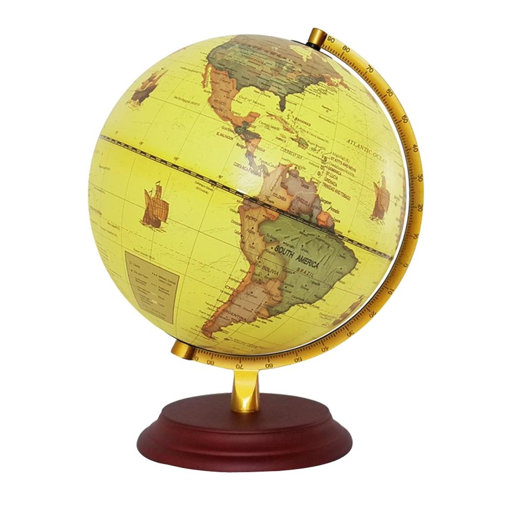 Style rétro géographique monde Globe carte lumières lampe jouet éducatif jaune - 3