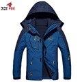 Новых мужчин мужская Водонепроницаемый Windpoof Куртки Мужчины сгущать 2 в 1 Осень зимняя Куртка Пальто Мужской Бренд Clothing Плюс Размер L-6XL