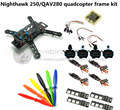 DIY FPV race mini drone Nighthawk 250 / QAV280 quadcopter frame kit 4-axis pure carbon rack + D2204 + BL12A ESC Special price
