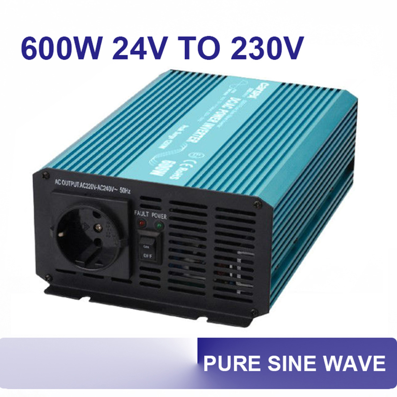 600w dc ac 12v 24v to 110v 220v 230v pure sine power inverter