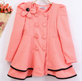 Retail 2016 spring section shoulder flower girls Outerwear girls fashion coat children leisure new 3 color coat Kids Clothes