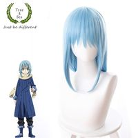 Tokyo Anime That Time I Got Reincarnated as a Slime Rimuru Tempest cosplay wig women blue hair wig costumes