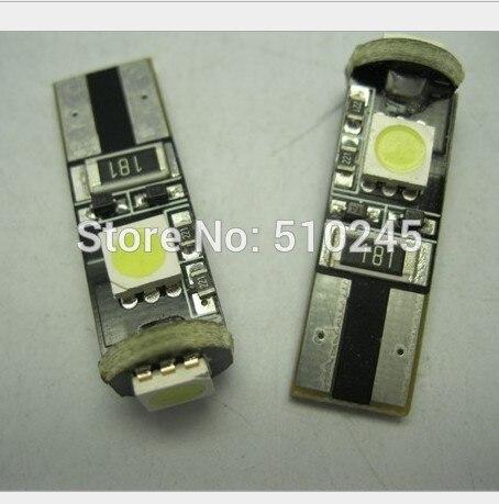 50X auto lamp 12V Canbus T10 3 smd 5050 LED car Light W5W 194 5050 SMD Error Free White 168 Light Bulbs