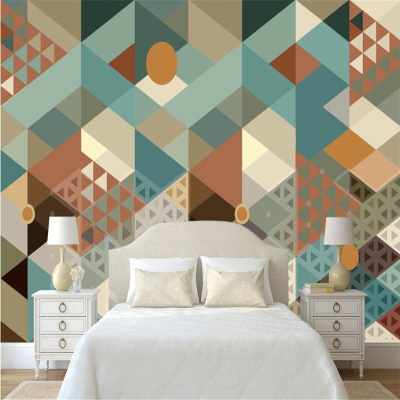 custom modern 3d photo non-woven wallpaper 3d mural wallpaper simple abstract geometric triangular wallpaper mural home decor geometric metallic wallpaper 3d abstract
