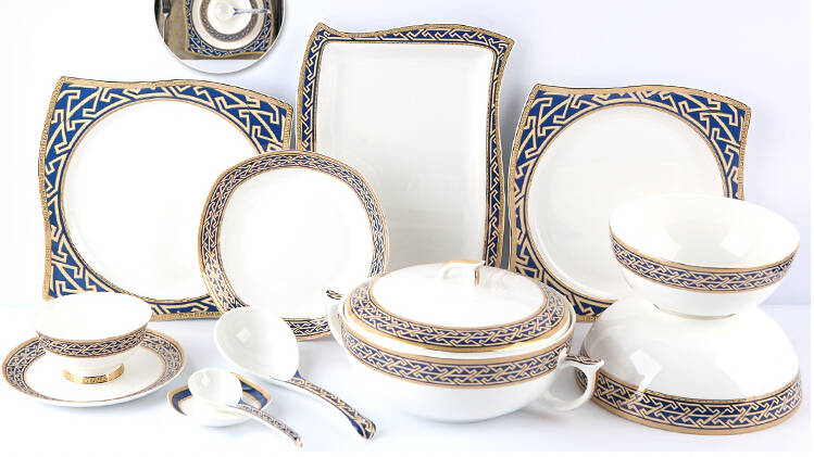 98 pieces ceramic chinaware sets tableware creative bone China tableware suit High end luxury hotel dinnerware upscale gift-in Dinnerware Sets from Home ...  sc 1 st  AliExpress.com & 98 pieces ceramic chinaware sets tableware creative bone China ...