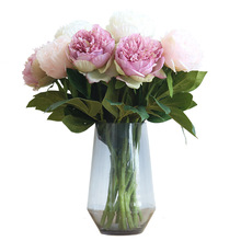 HUAIU Fashion Single Artificial Flower Simulation Peony Home Wedding Party Decoration DIY Wall Photography Props