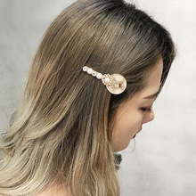 Ubuhle Hair Accessories Gold Silver Metal Clips Pearl Hairpins Round Shell Shape Hairgrips Barrettes Hairdress Jewelry