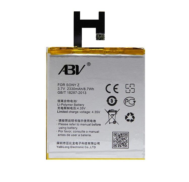 Originale Batteria di Ricambio ABV LIS1502ERPC batteria Per Sony Xperia Z L36h L36i c6602 SO-02E C6603 Batteria Del Telefono S39H