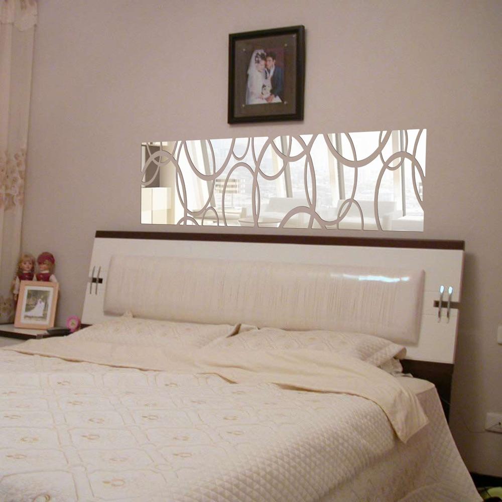 modern plastic furniture promotionshop for promotional modern  - diy modern acrylic plastic d mirror sticker arhall bedroom irregular ovalart pattern wall stickers