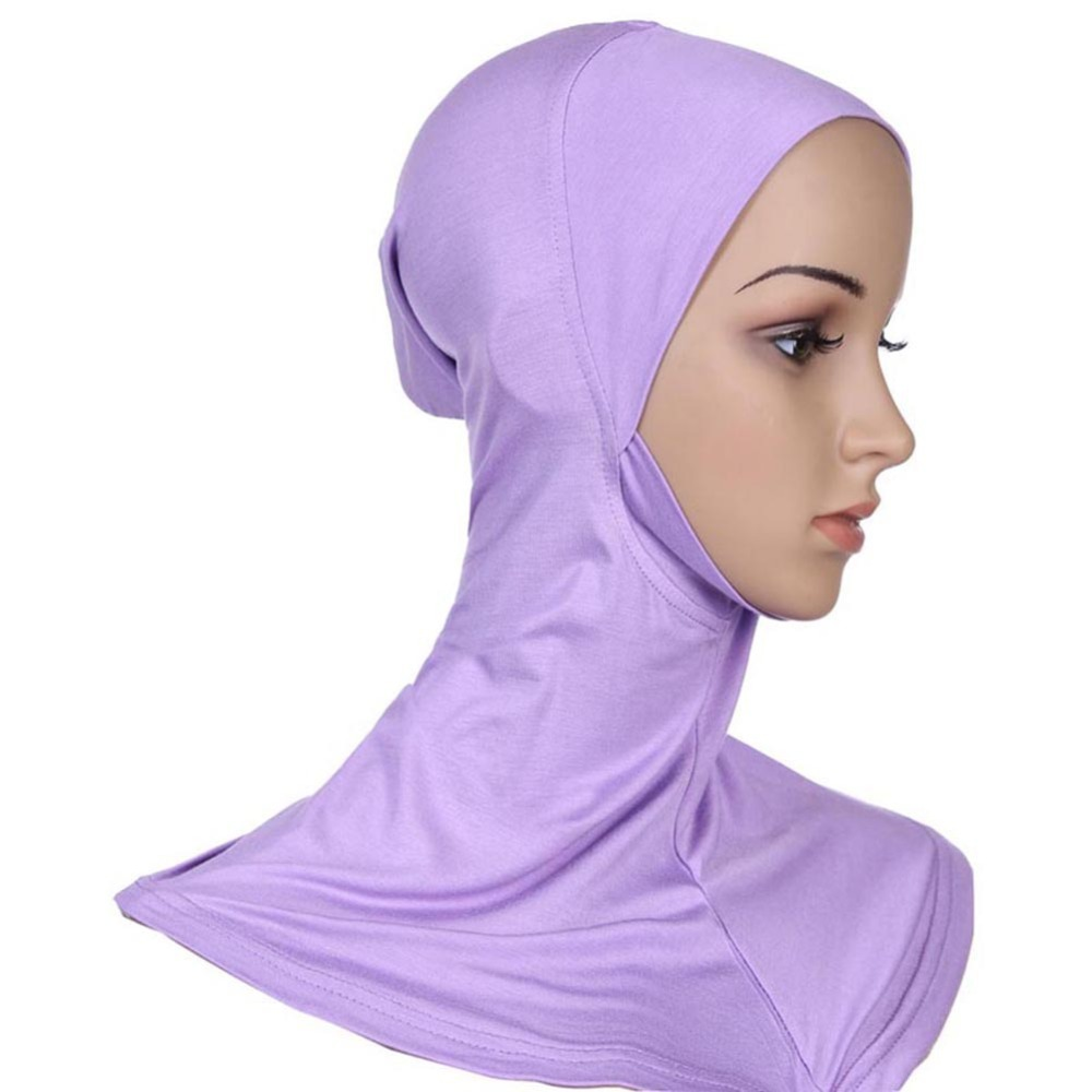 Muslim Hijab Scarf Hat Women Soft Cap Islamic Scarves Neck Cover Head Band
