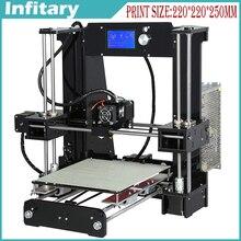 2016 nueva impresora 3D Reprap prusa i3 DIY kit impresora 3d auto 25 meterFilament 16 GB SD tarjeta de lector de Tarjetas LCD