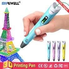 Myriwell 3d pen 3d pens,LED display,ABS/PLA Filament,3d printer pen-3d magic penChildren giftspen 3 d