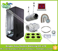 Hydropoinics Complete Indoor Grow Tent Kits 80x80x160cm With DWC Bucket LED Grow Light And Ventilation Equipment
