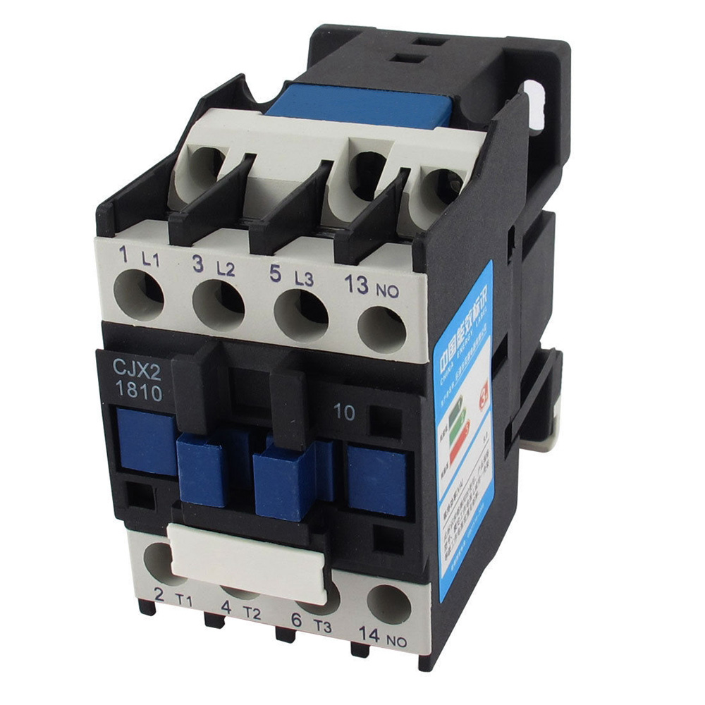 цена на AC Motor Magnetic Contactor 3 phase 3P 3 Pole 1NO 18A 24VAC 36V 220V 380V Coil Volt CJX2 Contacts Relay 35mm Din Rail
