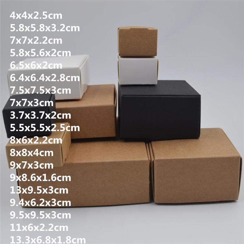 New Soap Box Craft Soap Cardboard Storage Eco-friendly Travel Handmade Box 50PCS