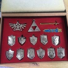 The Legend of Zelda Keychain Necklace Set