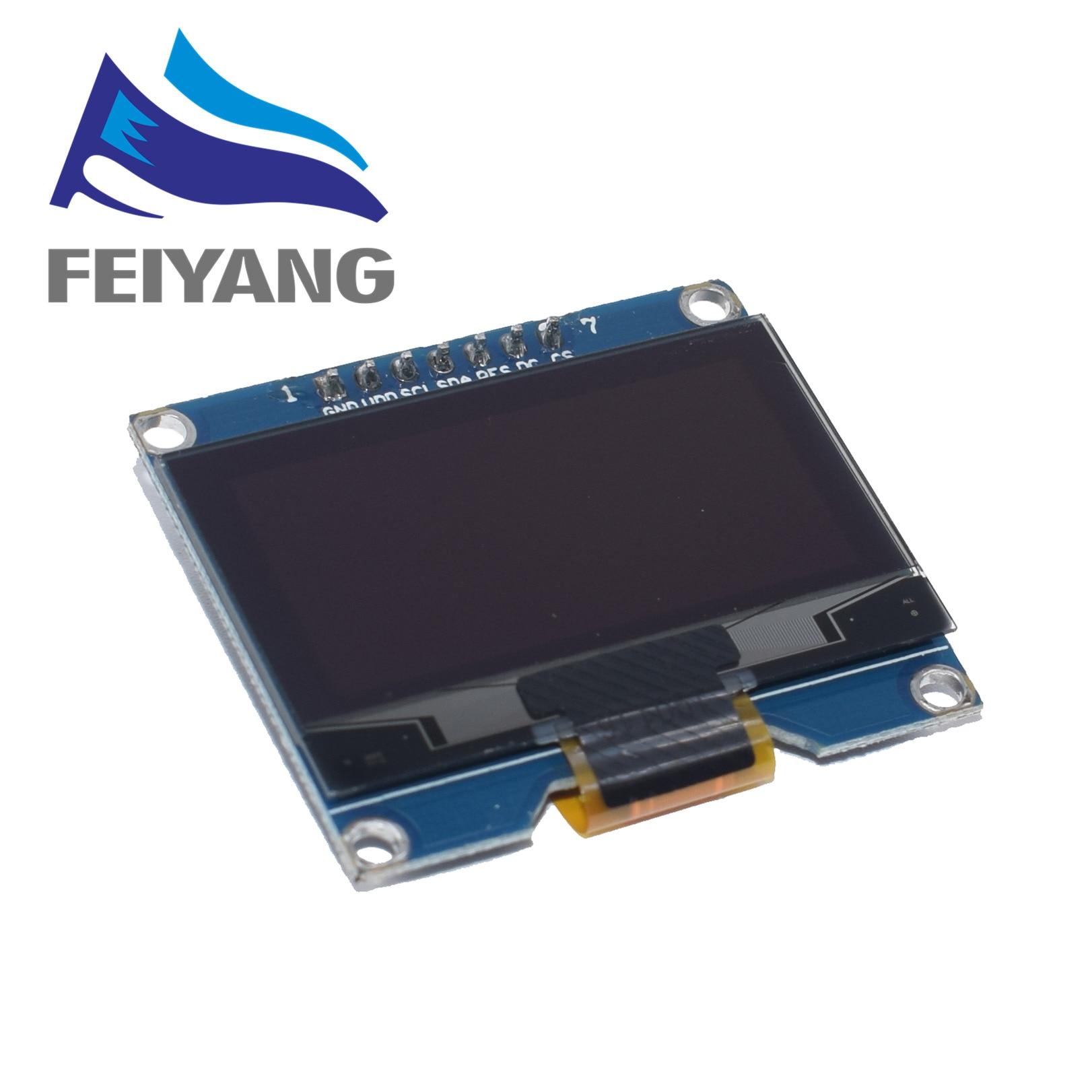 1PCS Módulo de Tela OLED de 1.54 polegada 7PIN Branco SSD1309 IC Unidade Compatível para SSD1306 SPI Interface 128*64