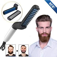 Men Quick Beard Straightener Styler Comb Multifunctional Hair Curling Curler For and Women