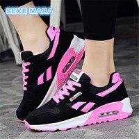 Nouveau 2017 Vente Chaude Sport chaussures femme Air coussin de Course chaussures pour femmes En Plein Air D'été Sneakers femmes de Marche Jogging Formateurs N