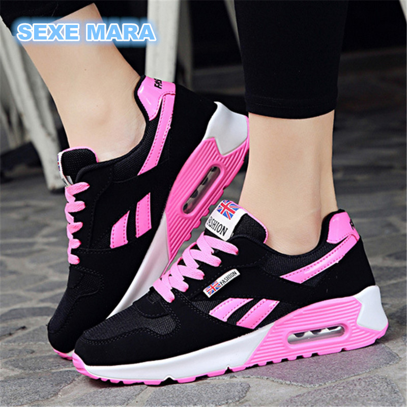 new 2017 Hot Sale Sport shoes woman Air cushion Running shoes for women Outdoor Summer Sneakers women Walking Jogging Trainers N new hot sale children shoes comfortable breathable sneakers for boys anti skid sport running shoes wear resistant free shipping