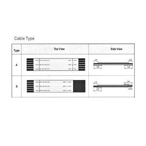 Image 4 - 34PIN Neue AWM 20624 80C 60 V VW 1 FFC FPC Flexible Kabel 0,5mm 34 Pin 350 MM 250 MM Vorwärts Entgegengesetzte Richtung LCD LED Band kabel