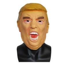 X Merry Toy Latex Donald Trump font b Mask b font Funny Rubber Billionaire Presidential Costume
