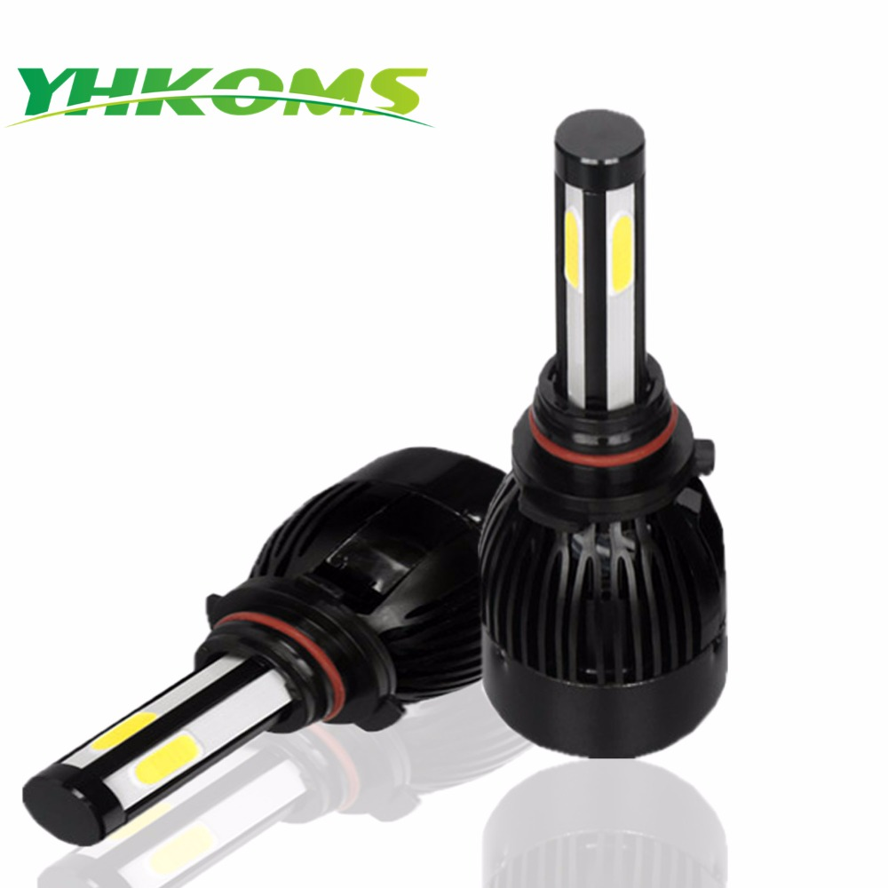 YHKOMS 9006 HB4 LED HB3 9005 H4 D1S D2S D4S H8 H11 H1 H3 HA CONDOTTO La Lampadina 9004 9007 H13 Hi/Lo Faro Kit 80 W 8000LM Canbus 12 V 6000 K