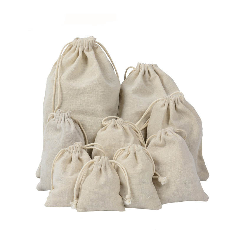 ETya Cotton Drawstring Bag Tote Travel Reusable Shopping Bag Men Women Storage Package Bags Jewelry Christmas Gift Pouch Hot