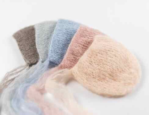Handcraft Baby hand Knit Mohair Bonnet ,Baby Photography Props. Photography prop.on Baby Shower Gift