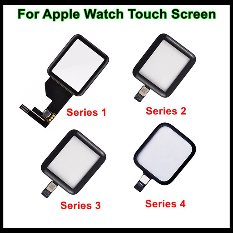 Faishao Brand New Glass Lens Panel Digitizer <font><b>Touch</b></font> <font><b>Screen</b></font> For <font><b>Apple</b></font> <font><b>Watch</b></font> Series 1 2 <font><b>3</b></font> 4 5 38mm <font><b>42mm</b></font> 40mm 44mm <font><b>Replacement</b></font> image