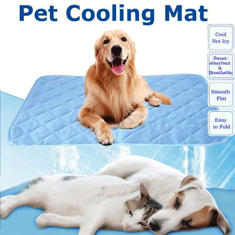 Dog Cooling Mat Pet Cat Summer Cool Bed Gel Pad Cushion Indoor Dog Cat Heat Relief for Pet image