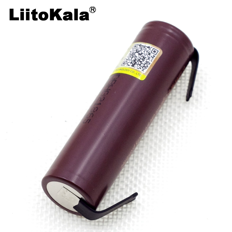 Liitokala for LG HG2 18650 3000mAh Battery 18650 3.6V Discharge 20A, Designed Electronic Cigarette Battery Power 1pcs for samsung original 18650 25r inr1865025r 20a discharge lithium batteries 2500mah electronic cigarette power battery