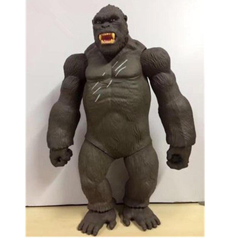 45 CM Kong crâne île film chimpanzé Figure Kong crâne île modèle jouet figurine Action à collectionner Animal modèle jouet L1075
