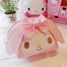 Cute Hello Kitty My Melody Pu Makeup Bag Cosmetic Bag Waterproof Portable Travel Bag Storage Bag Pouch Girl Makeup box Girl gift sheepet sp120452 my melody hello kitty