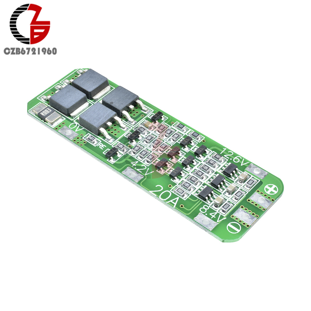 3S 20A 12.6V Cell 18650 Li-ion Lithium Battery Charger BMS Protection PCB Board.