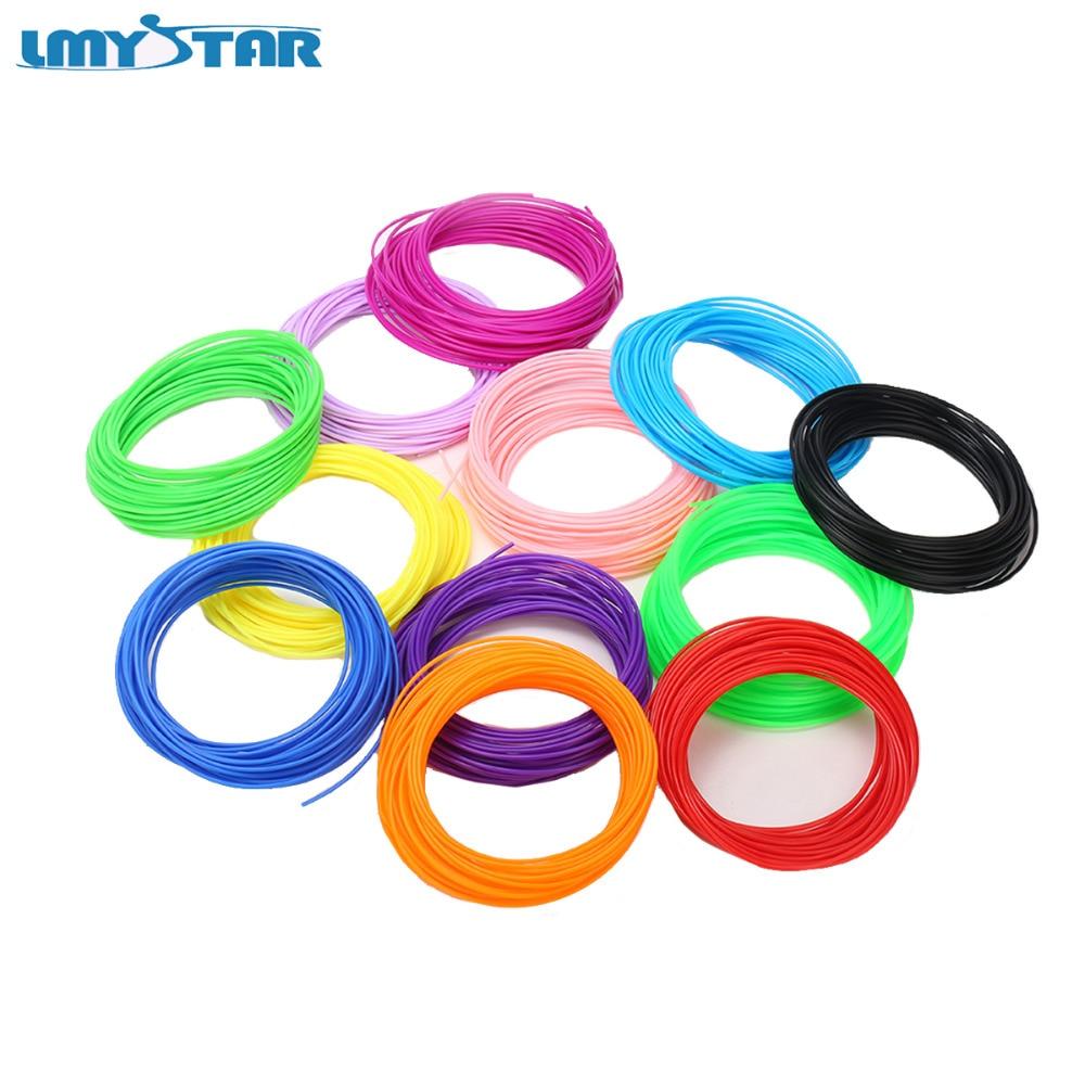LMYSTAR 10 Color/Set 3D PLA ABS Filament 1.75mm 10 colors 5 meter /10 meter 3D Printer Filament For 3D Printer /3D Pen