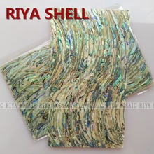 Free Shipping RIYA Natural abalone paua shell laminate for musical instrument and furniture inlay 10pcs/lot